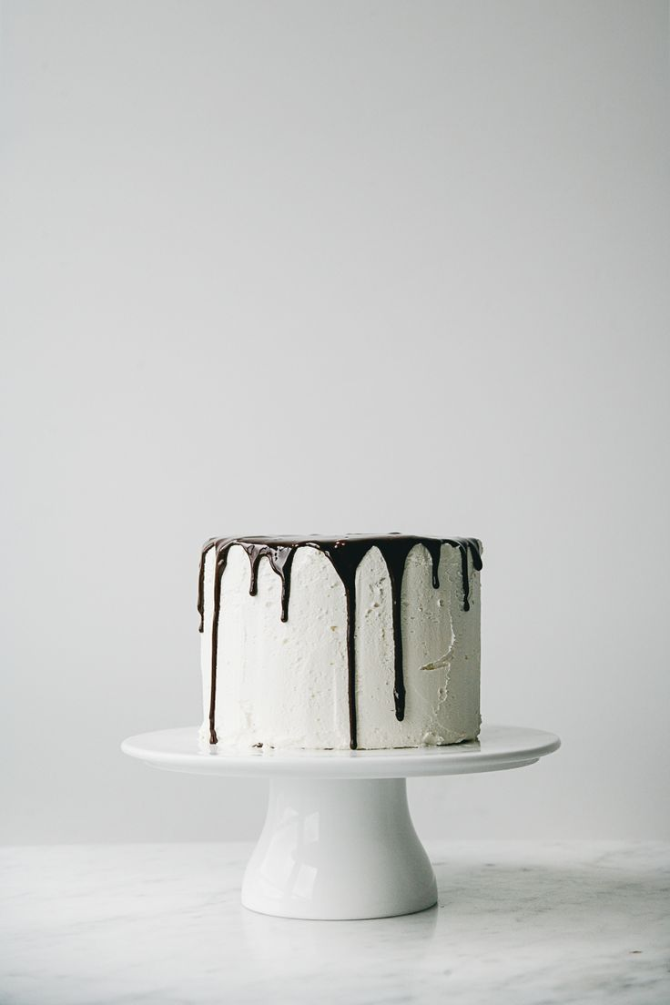Layered Vanilla Cake With Buttercream Frosting and Chocolate Ganache for WB Magazine