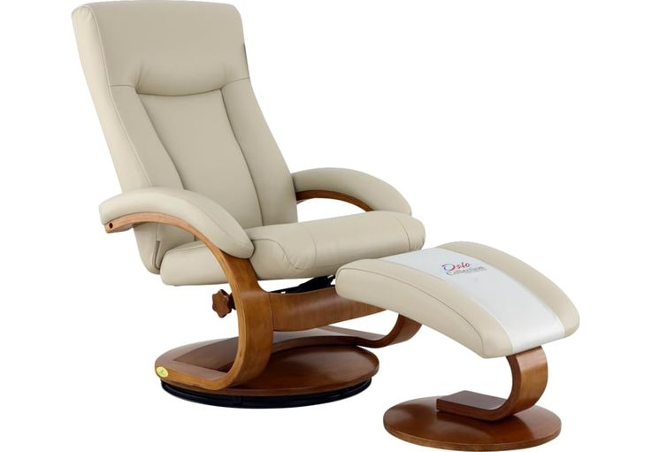 Oslo Collection Hamar Beige Recliner Ottoman Recliner With