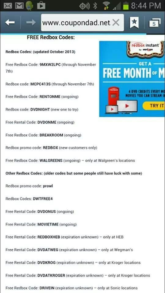 Redbox Coupons | 2015 Best Auto Reviews