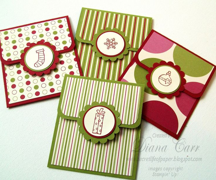 homemade christmas cards | The Secret Life of Paper: Jolly Holiday Gift Card Holders