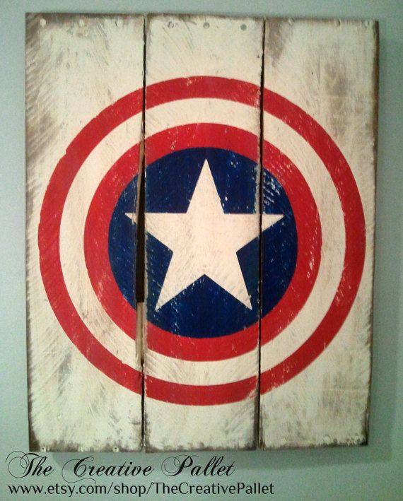 Add to your classic superhero decor with this large vintage superhero wood sign. It measures 16 x 20. They are each painted with the respectful