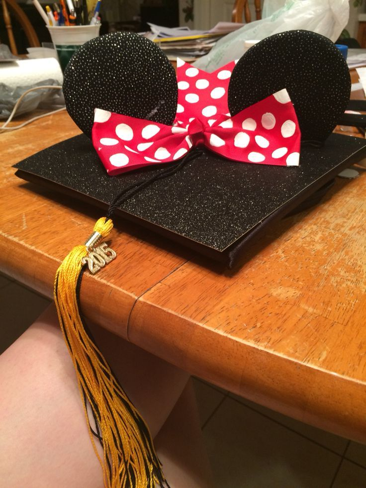 Minnie Mouse Abschlusskappe #disney #disneygraduationcap #disneygradcap #crafty #diy