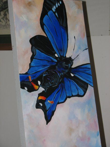 Dianne's Blue Butterfly - acrylic on canvas