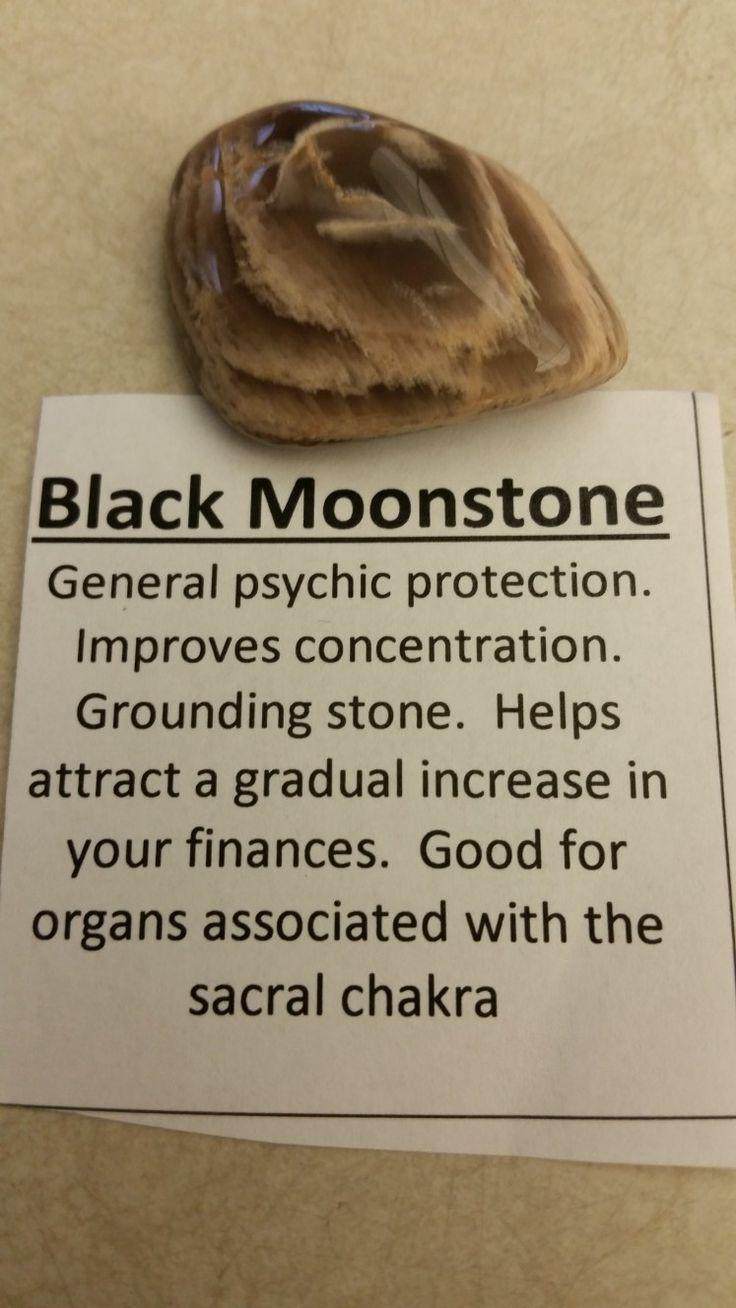 Black moonstones