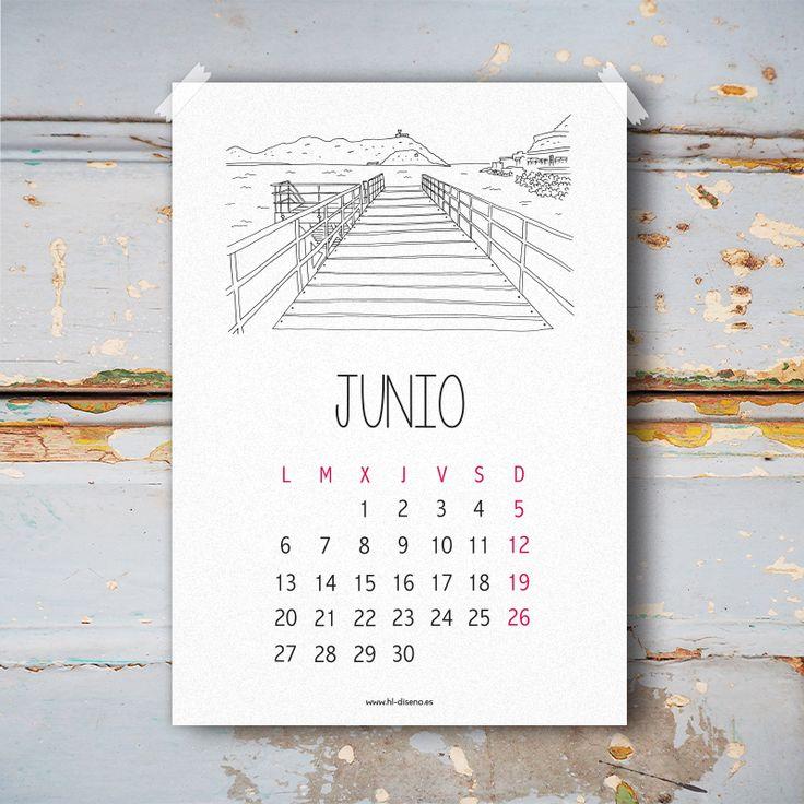 Calendario Junio 2016 descargable gratis