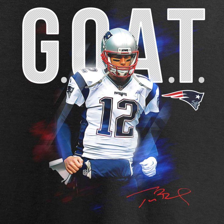 NFL Pro Line by Fanatics Branded Tom Brady New England Patriots Women's Black GOAT Slim Fit V-Neck T-Shirt