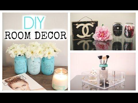 Diy mason jar room decor cute affordable youtube for Room decor easy