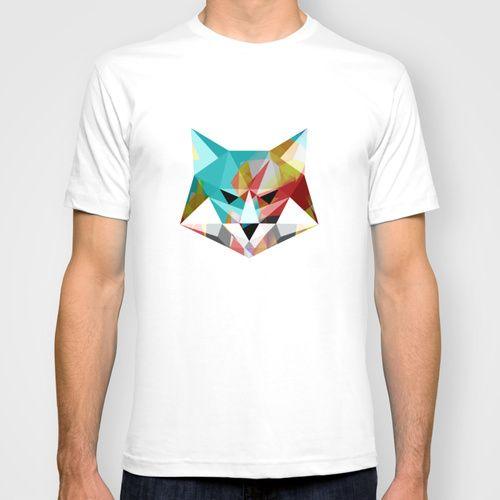 Fox T-shirt  #polygons #polygon #lowpoly #geometry #geometric #design #art #digital #fox #animal #menswear #mensfashion #mens #tshirts #colorful #polygoonfox #polygonanimals