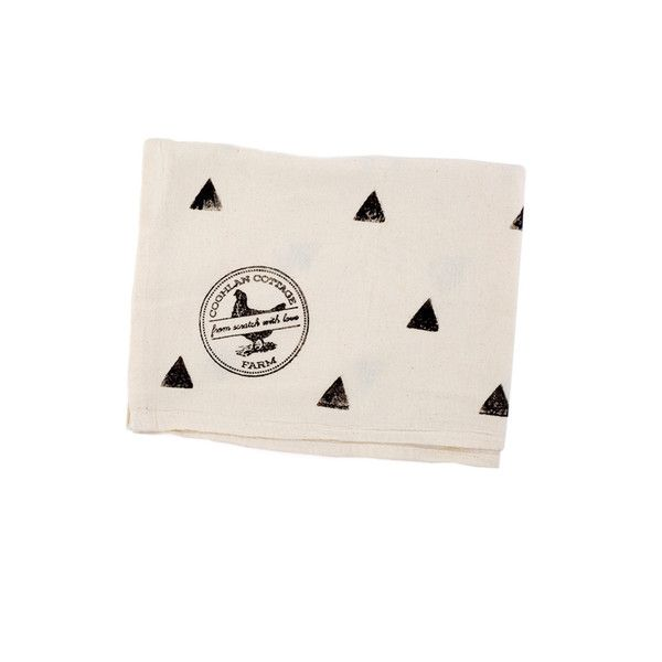 Hand-Printed Triangle Tea Towels by Coghlan Cottage Farm