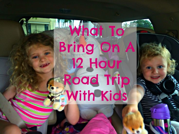 Here is a list of items to bring on a 12 hour road trip with kids.