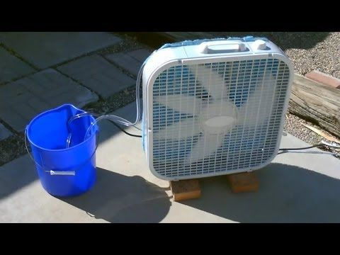 "Homemade Evaporative Air Cooler! - Simple ""Box Fan"" Off the grid SOLAR Redneck Air Conditioner"