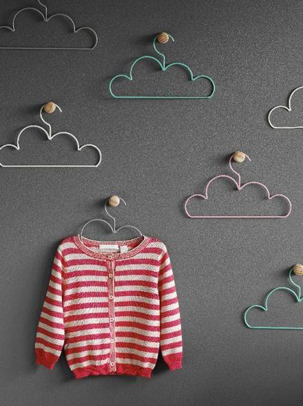 Cloud Coat Hangers - could make smaller versions for dolls