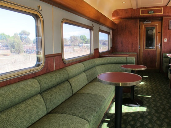 Lounge on the Ghan train, Australia.