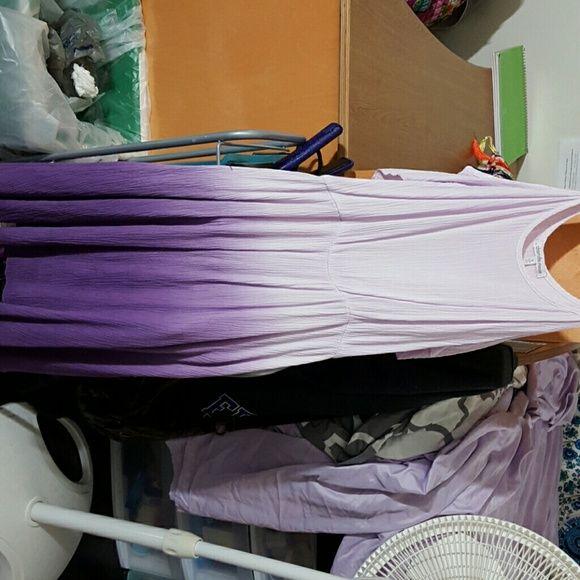 Final sale!!!! Shoulder cut out ombre dress Purple ombre, flowey, thin, good for hot days Charlotte Russe Dresses Midi