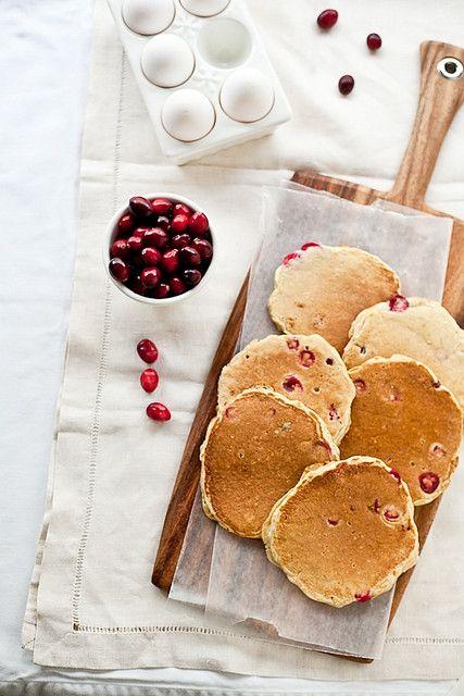 ♀ Food Photography Styling still life Morning Cranberry Orange Pancakes