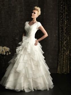 gorgeous and modest: Wedding Dressses, Dresses Style, Ball Gowns, Modest Wedding Dresses, Weddings, Wedding Gowns, Dreams Dresses, Allure Bridal, Ruffles
