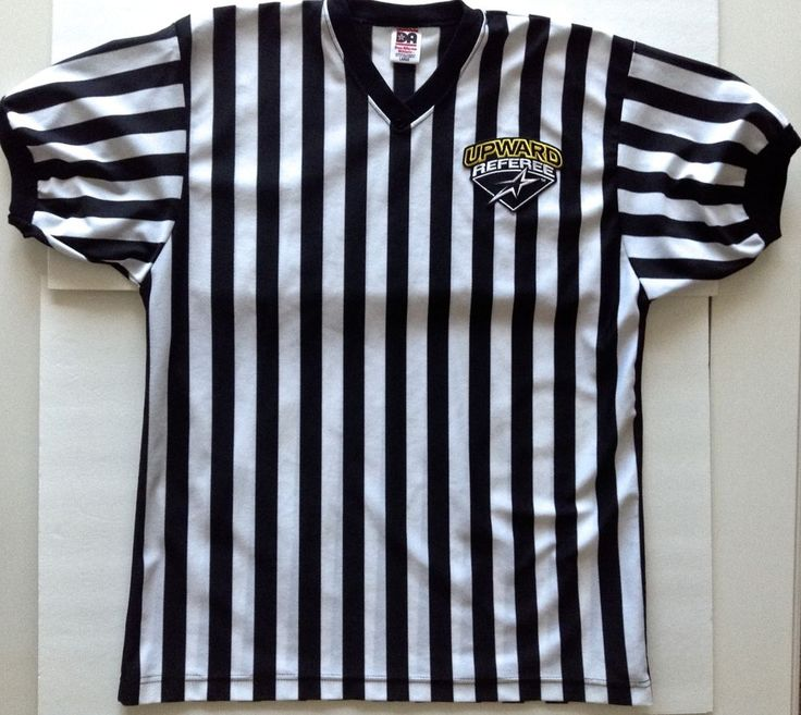 Don Alleson Upward Referee Shirt Striped Top Jersey Sports Umpire  Mens Large #DonAllesonAthletic #Jerseys