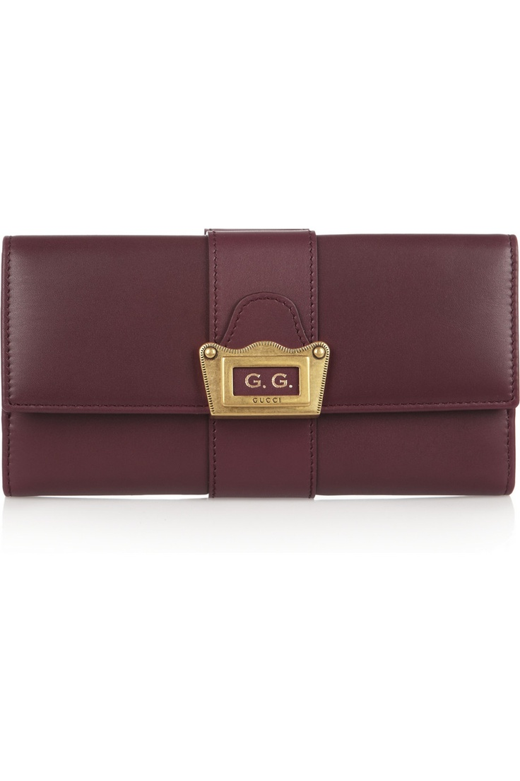 Gucci | Helmet leather continental wallet