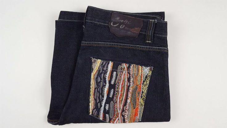 COOGI Shorts JEAN Denim 36 MULTICOLOR Pockets MENS Size SZ Dark BLUE Man LOOSE** #COOGI #Denim