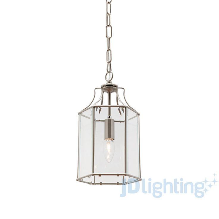 Arcadia Satin Chrome & Clear 1 light pendant