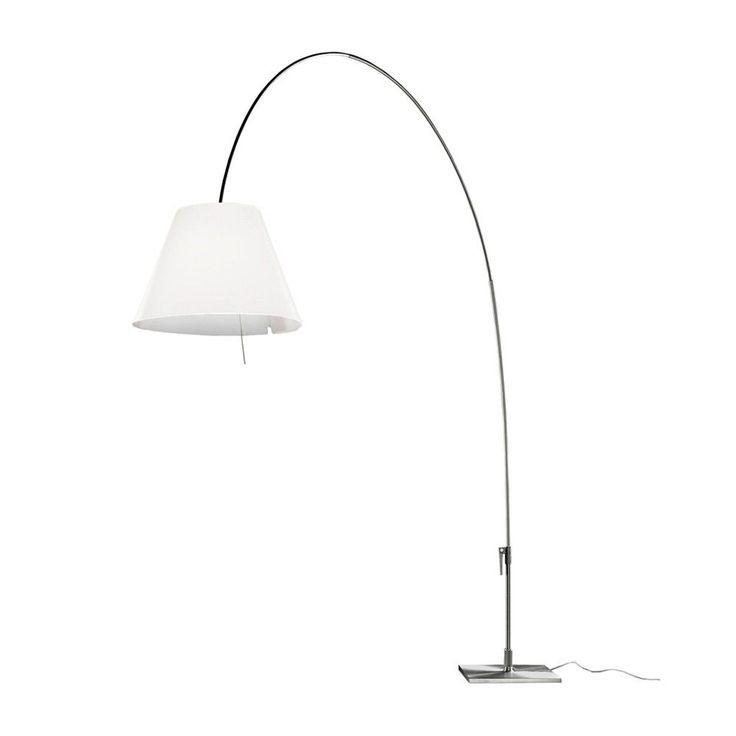 Lady Costanza vloerlamp met dimmer aluminium   Luceplan