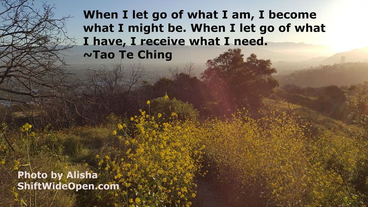 Tao Te Ching let go