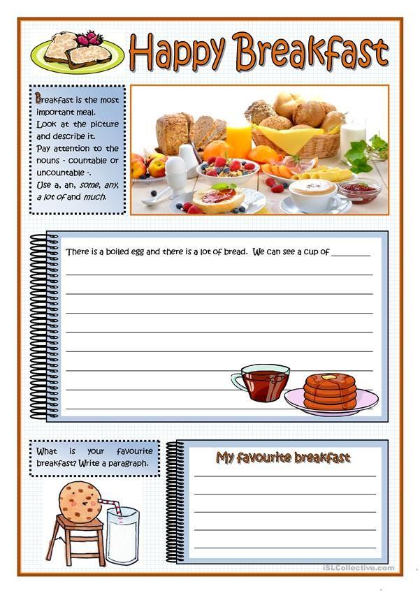 Happy Breakfast Worksheet Free Esl Printable Worksheets Made By Teachers Educational Websites For Kids Worksheets Reading Comprehension Worksheets Teacher websites for worksheets