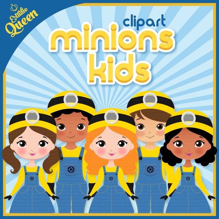 ClipArt Minions Kids, minions, clip art, digital scrapbook