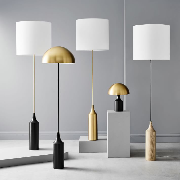 Hudson Wood Base Floor Lamp In 2020 Large Floor Lamp Floor Lamp Modern Floor Lamps