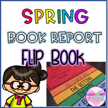"""""""I Got Carried Away With a Good Book!"""" This flip book makes the perfect bulletin board or book report project for spring! Included: B&W Version of: - """"I Got Carried Away With a Good Book"""" Cover - Characters - Setting - Plot - My Book Review"""
