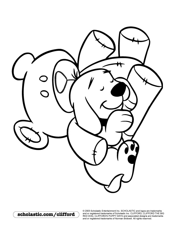 sleepy puppy coloring page - Clifford Puppy Days Coloring Pages