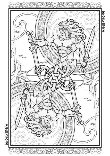 160 best Norse Colouring Pages