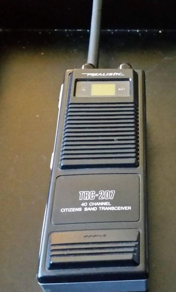 Vintage Radio Shack REALISTIC TRC 207 40 Channel Citizen Band Radio Handheld EUC #RadioShack