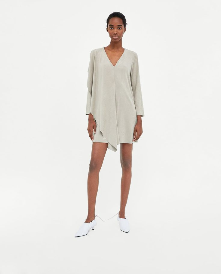 ZARA - WOMAN - SUEDE EFFECT DRESS