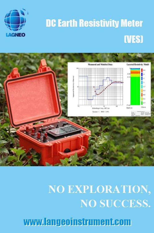 Earth DC resisvitity meter features with funciton of Vertical electrical sounding (VES), which is a geophysical method for investigation of a geological medium. The method is based on the estimation of the electrical conductivity or resistivity of the medium. The estimation is performed based on the measurement of voltage of electrical field induced by the distant grounded electrodes (current electrodes).