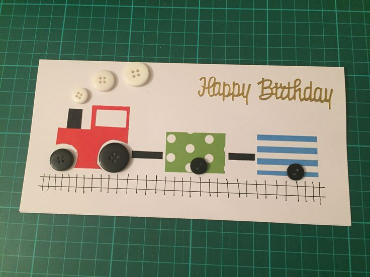 Train card for a young boy