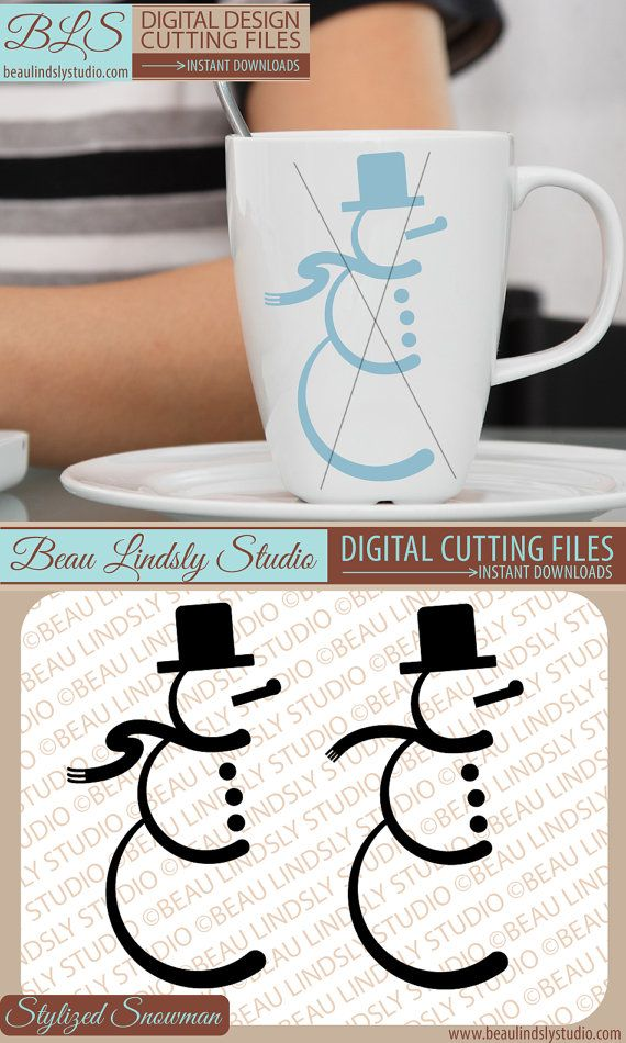 Stylized Snowman SVG Cutting File: Winter SVG, DXF and PNG Image formats. Great for Silhouette Pattern, Cricut Projects, printable clip art, or word art. These stylized snow men would be great all types of creative projects, such as Vinyl Window Clings, Vinyl Wall Art, HTV or Fabric Die Cut Appliqué for a DIY T-Shirt Design, various vinyl applications such Signs, Decorations, Wall Art, Cards... anything you can dream up and sublimation too! Make a great DIY gift that's appropriate all…
