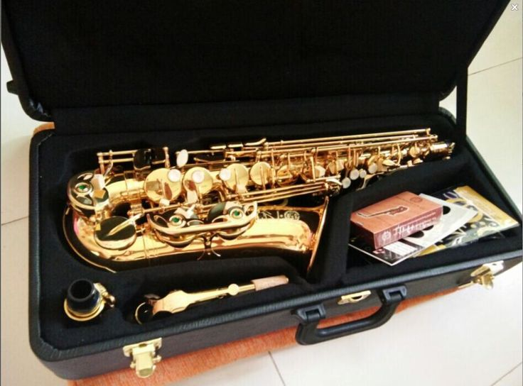 Alto saxophone France Salmer 54/ drop E Alto Sax instruments Electrophoretic gold Accessories complete Free shipping