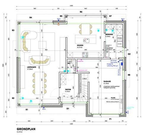 Grondplan moderne woning google zoeken huis for Grondplannen woningen