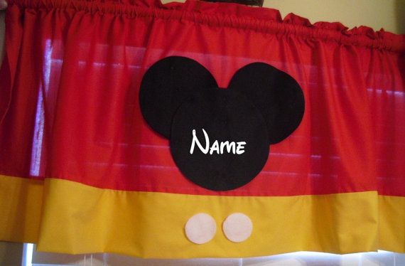 Disney Mickey Mouse Personalized Curtain Valance by DreamDesignsOB