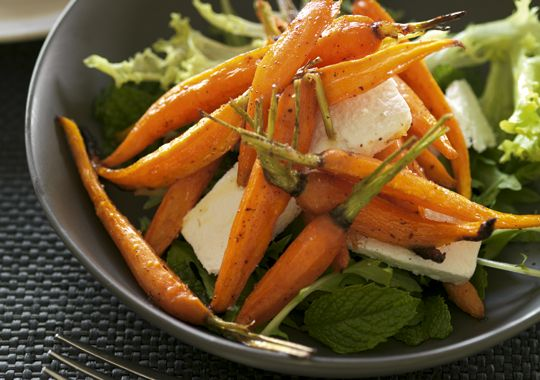 Roasted Baby Carrot Salad