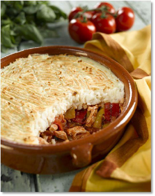 Low FODMAP Basque chicken pie -  gluten free   http://www.ibssano.com/low_fodmap_recipe_basque_chicken_pie.html