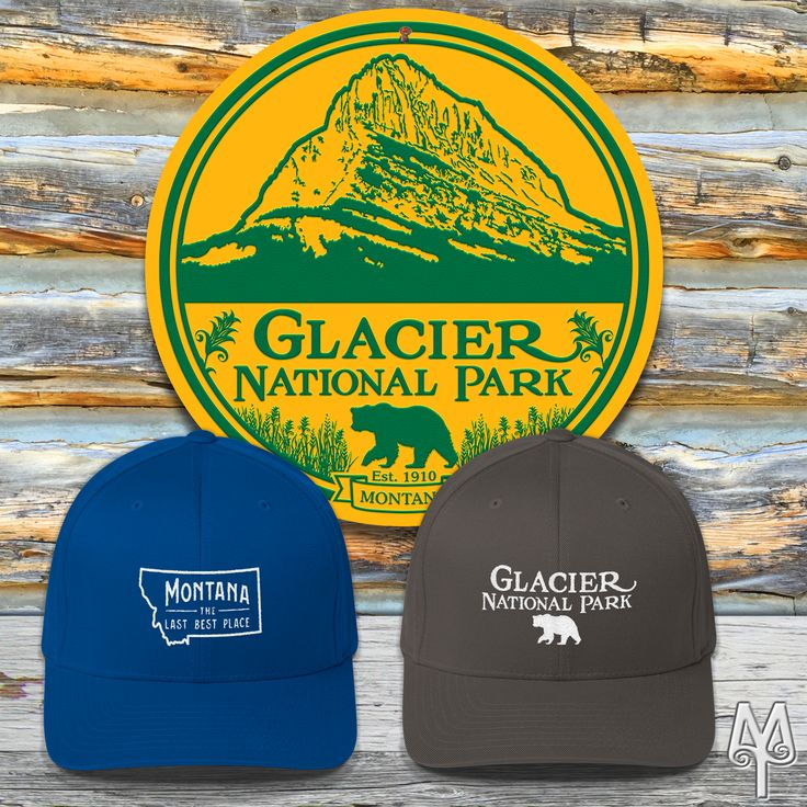 Hand crafted gifts from Montana...You visited Glacier National Park. Take home a hand-crafted ball cap or wall sign to remind you of Glacier's spectacular scenery and wildlife! The FlexFit's curved bill, athletic shape, and silver undervisor make it an ideal multi-purpose hat. Don't go hiking without a hat!  And, the wall sign comes in several sizes (14, 28, 36, and 42 inch diameters)...perfect for your home or cabin.