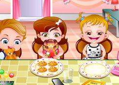JuegosdeHazel.com - Juego: Aprender a Comer - Jugar Juegos Nuevos de Bebe Hazel Gratis Online