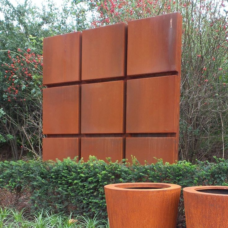 corten block wall