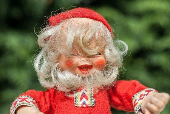 Vintage Arne Hasle Nisse Santa Elf Latex Doll 11  by Scandifinds