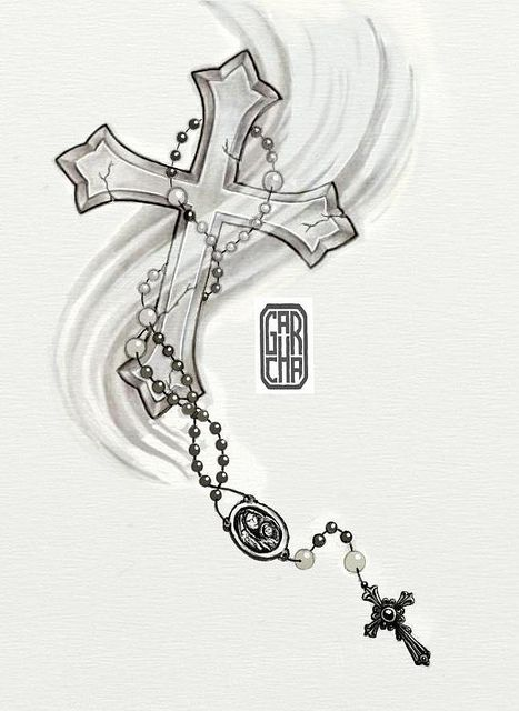 Drawings of Crosses with Rosary | post navigation rosary tattoo design 5 rosary tattoo drawing 2