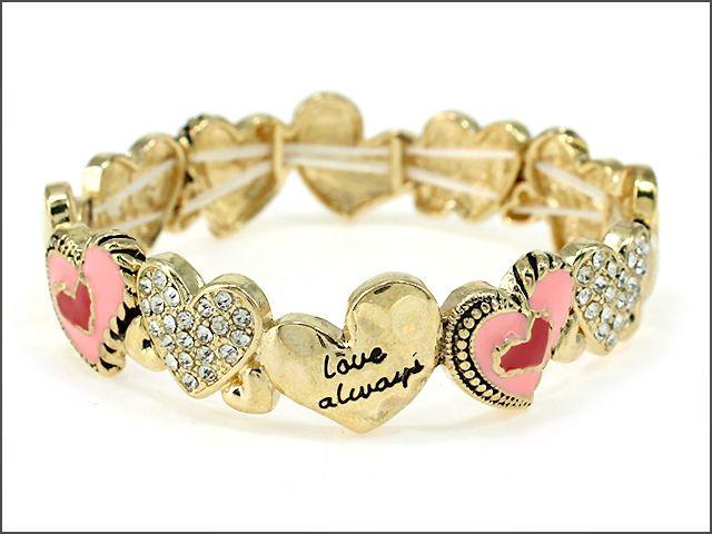 Shop Fashion Jewelry, Trendy Jewelry, Inexpensive Jewelry, Jewelry, Heart Bracelet, Bracelet, #ValentineGift, Valentine