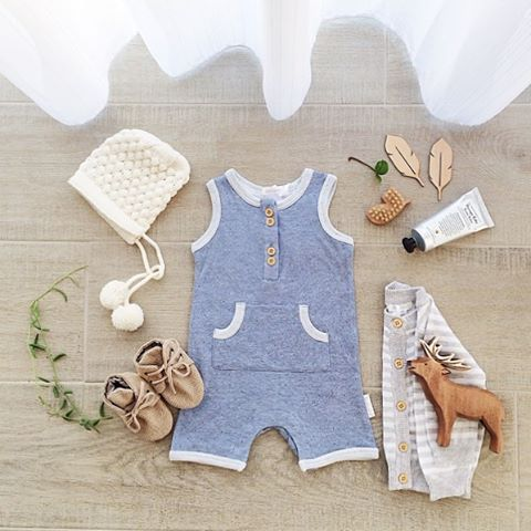 • Mum & I couldn't go past this sweet wee romper yesterday. I think it looks…