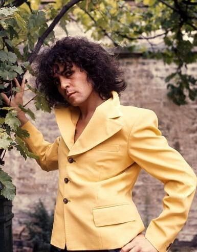 Marc Bolan in his yard, 1977